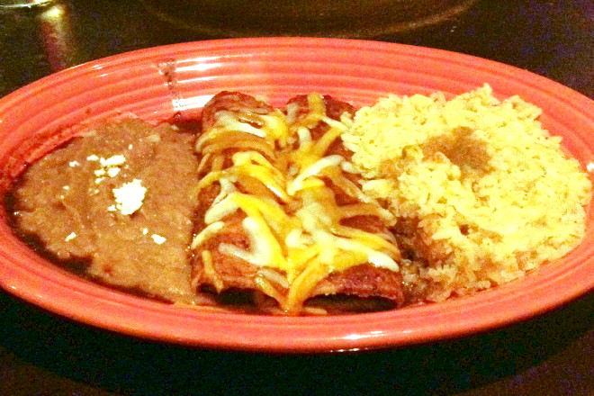 photo of enchiladas mole poblano from La Posada, Arlington, MA