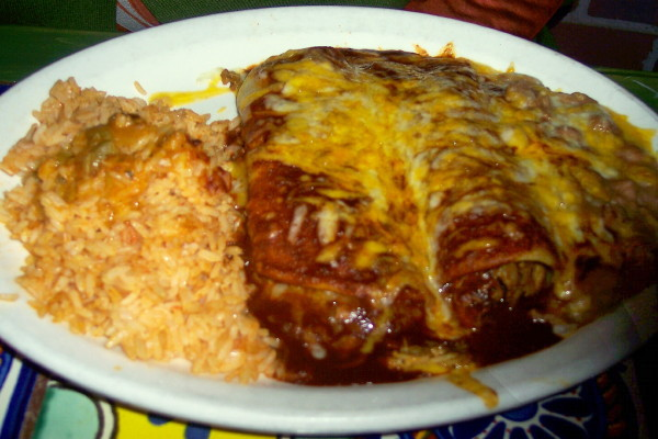photo of enchiladas from La Siesta, Winthrop, MA