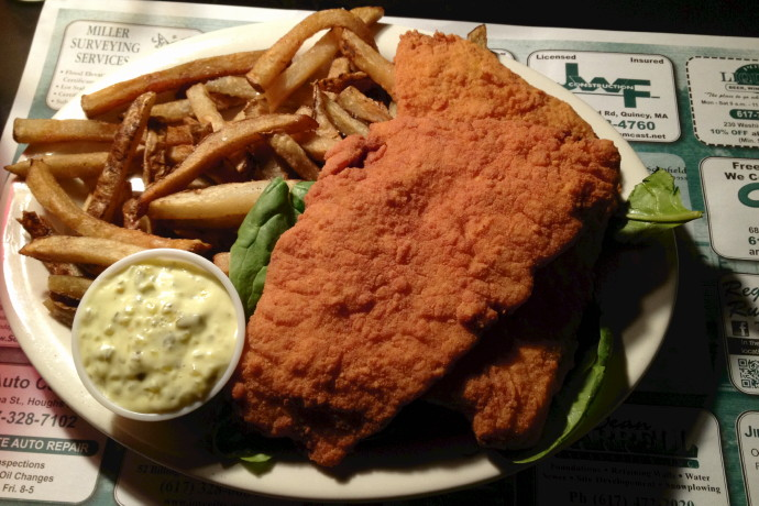 photo of fried flounder from Louis, Quincy, MA