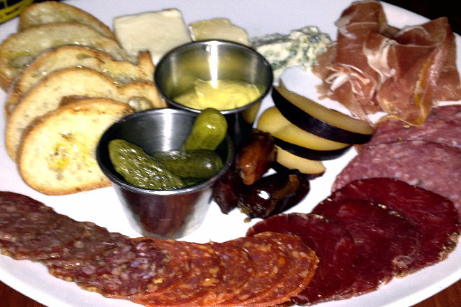 photo of cheese and charcuterie plate from Lucky's Lounge, Boston, MA