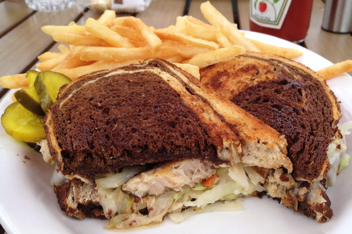 photo of swordfish pastrami reuben from Mac's, Provincetown, MA