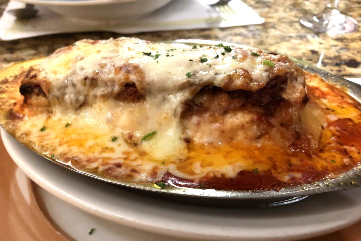 photo of lasagna from Maria's Restaurant, Braintree, MA