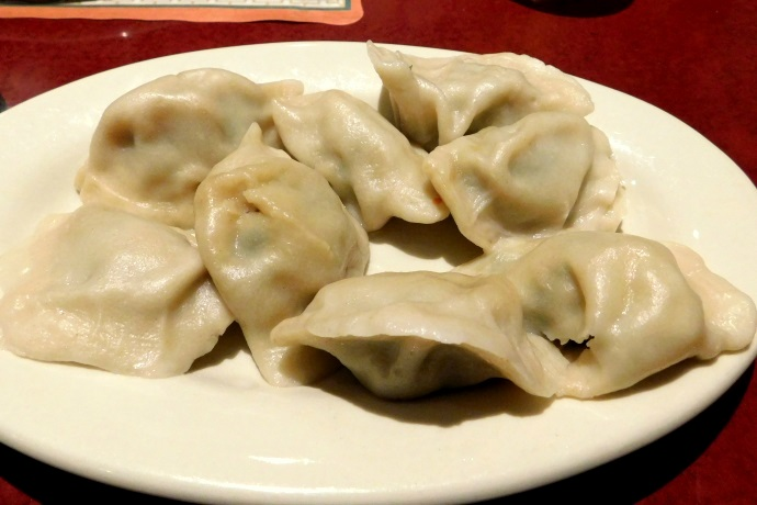 photo of pork and chive dumplings from Mary Chung, Cambridge, MA