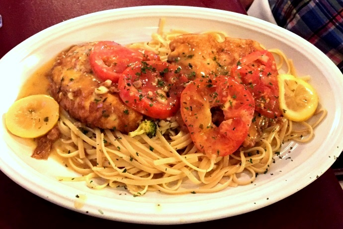 photo of chicken francese from Massimo's Ristorante, Wakefield, MA