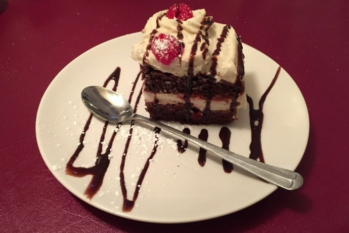 photo of cherry chocolate cake from Massimo's Ristorante, Wakefield, MA