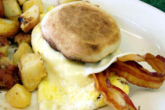 photo of a breakfast sandwich from McKay's Breakfast and Lunch, Quincy, MA
