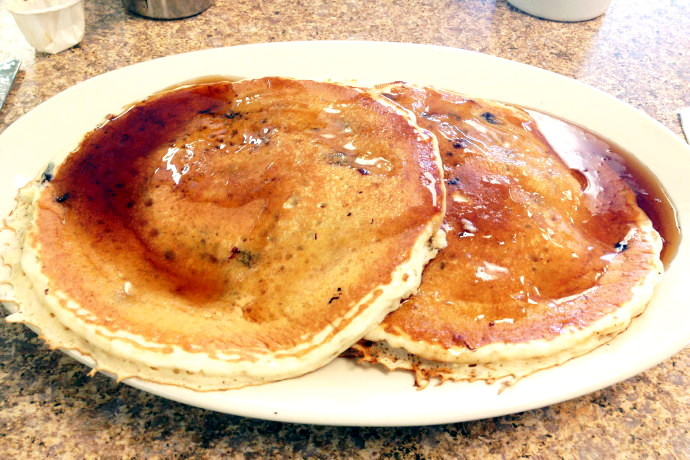 photo of blueberry pancakes from McKay's Breakfast and Lunch, Quincy, MA