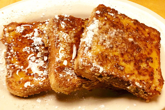 photo of granola-crusted French toast from McKenna's Cafe, Dorchester, MA