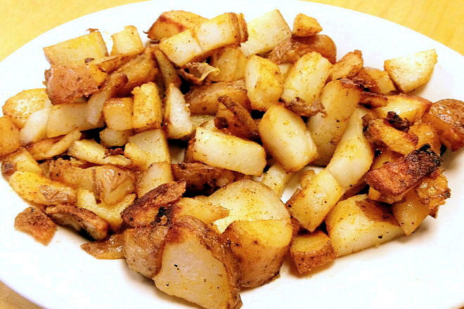 photo of home fries from McKenna's Cafe, Dorchester, MA