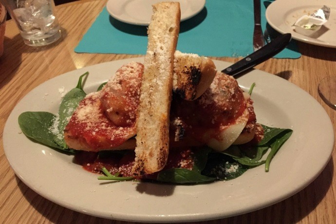 photo of meatball bruschetta from Mezzo Mare, Hull, MA