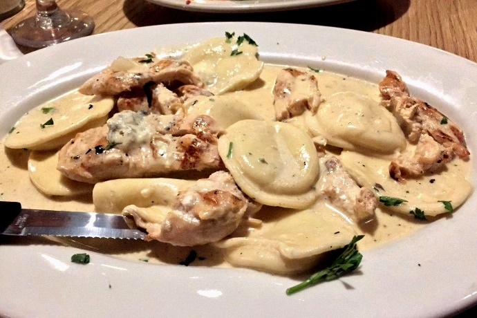 Twelve More Pasta Dishes from Boston-Area Spots: Gorgonzola Ravioli with Chicken from Mezzo Mare, Hull, MA