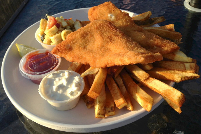 photo of fish and chips from Millie's Kitchen, Winthrop, MA