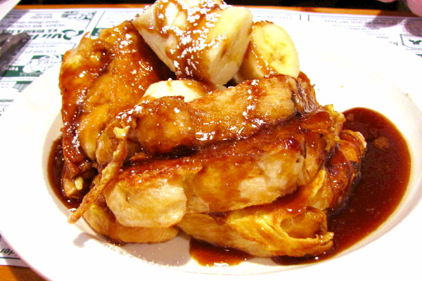 photo of banana French toast from the Muffin Patch, Old Forge, NY