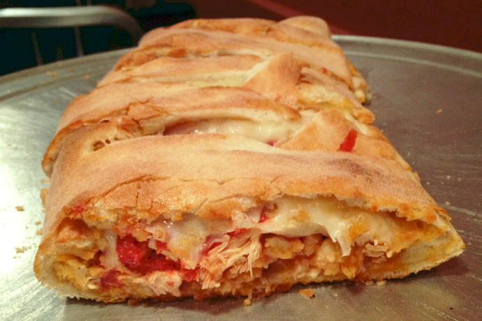 photo of a chicken parmigiana calzone from Nana's Pizza, Everett, MA