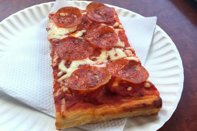 photo of pepperoni pizza from Napoli Pizza and Subs, Lawrence, MA