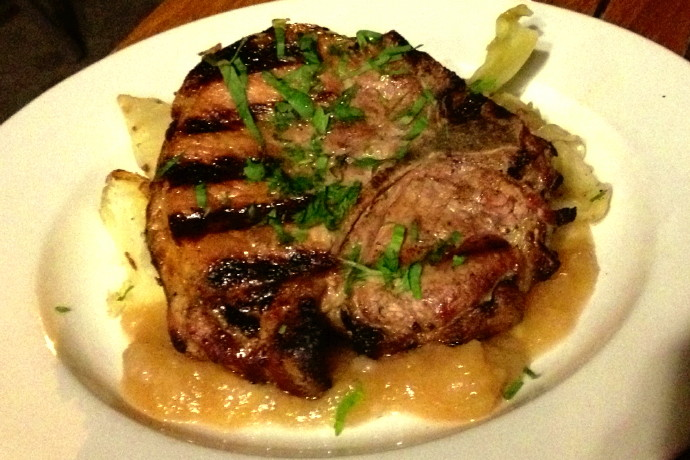 photo of pork chop from The Naumkeag Ordinary, Salem, MA