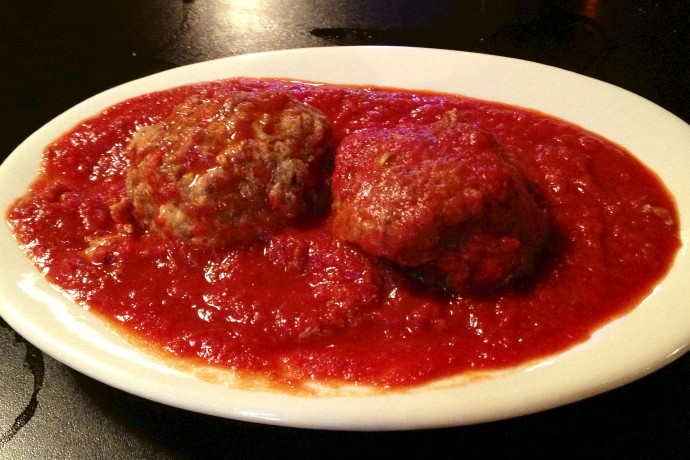 photo of meatballs from NewBridge Cafe, Chelsea, MA