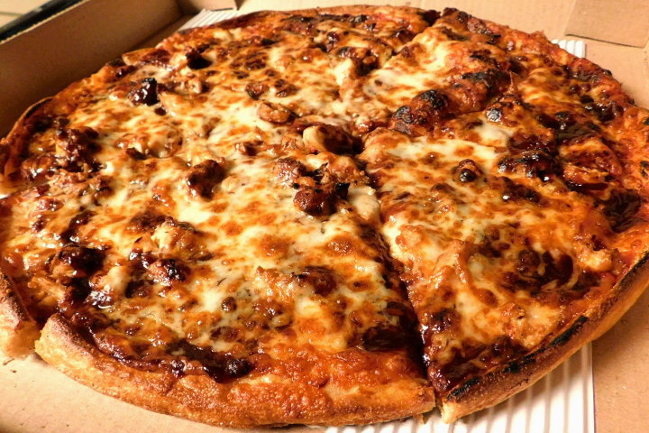 photo of BBQ chicken pizza from New London Pizza, Concord, MA