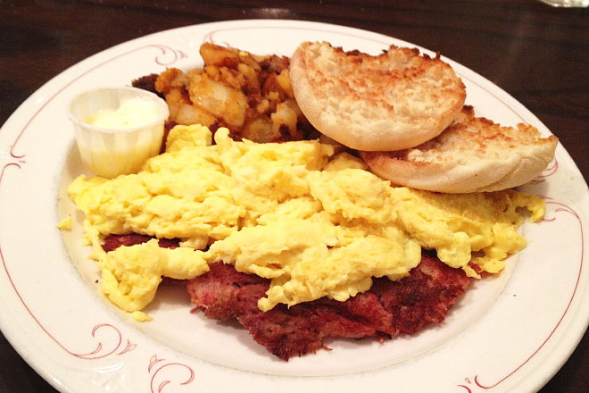 photo of breakfast plate from Olympian Diner and Restaurant, Braintree, MA
