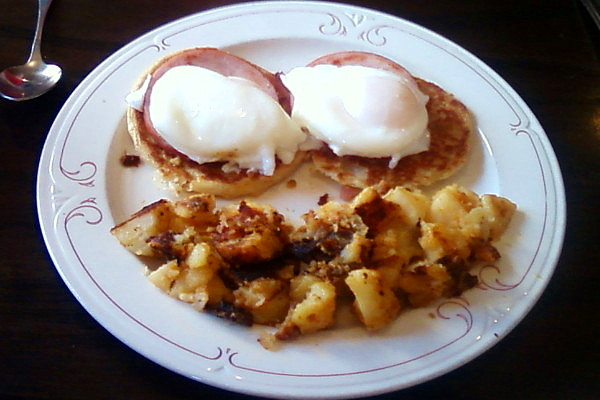 photo of eggs benedict from Olympian Diner and Restaurant, Braintree, MA