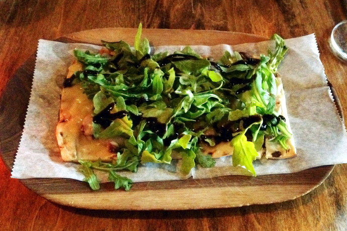 photo of a flatbread from Orinoco, Brookline, MA