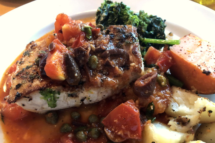 photo of pan-roasted mahi-mahi from Out of the Blue, Somerville, MA