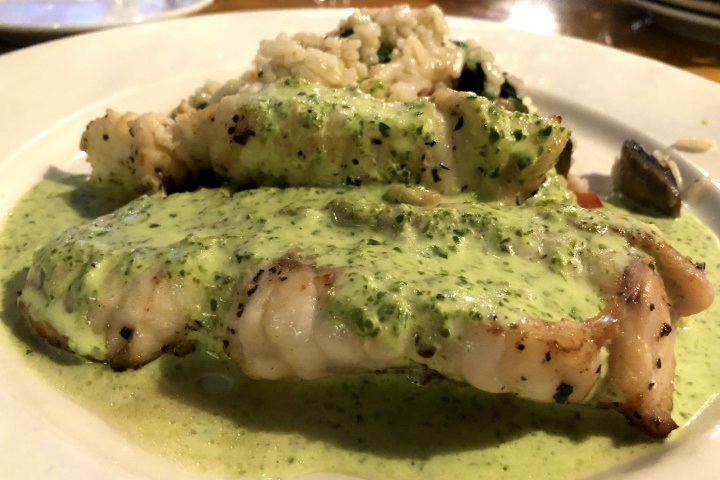 photo of pan-roasted monkfish from Out of the Blue, Somerville, MA