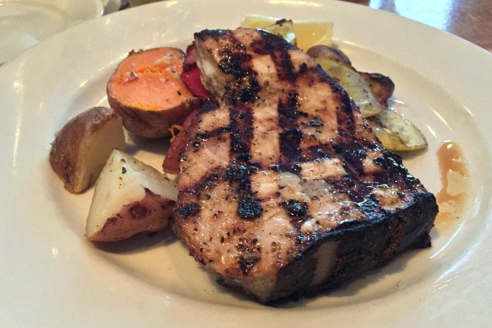 photo of grilled swordfish from Out of the Blue, Somerville, MA