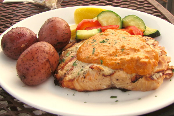 photo of grilled salmon from Pearl, Wellfleet, MA