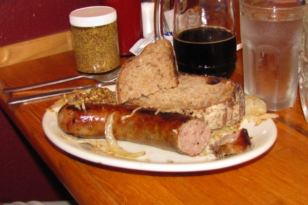 photo of kielbasa from the People's Pint, Greenfield, MA