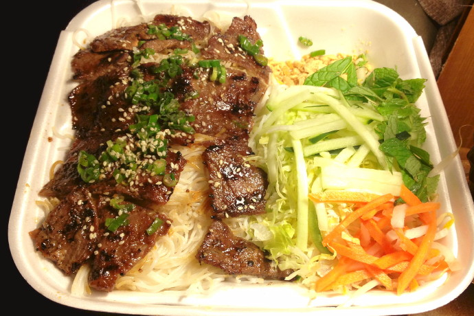 photo of grilled beef with vermicelli from Pho So 1, Randolph, MA