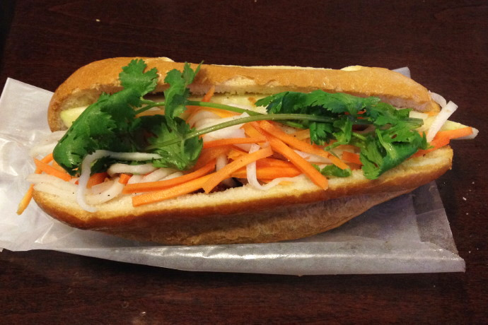 photo of banh mi from Pho Viet's, Allston, MA