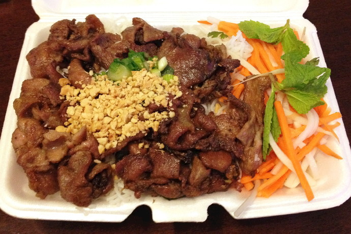 photo of grilled lemongrass pork with vermicelli from Pho Viet's, Allston, MA