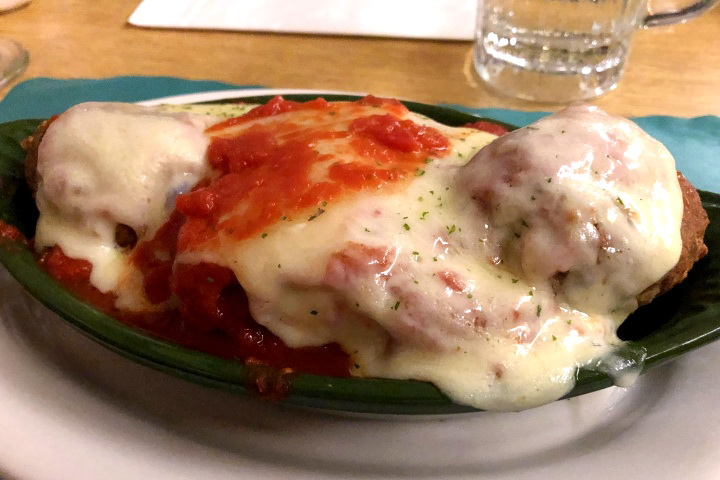 photo of lasagna from the Pleasant Cafe, Roslindale, MA