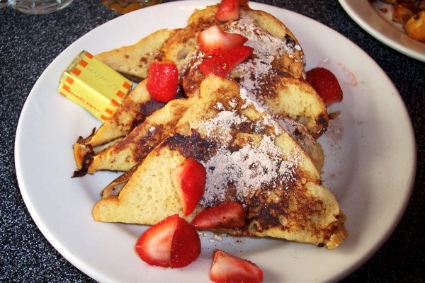 photo of French toast from the Popover Cafe, Manhattan, NY
