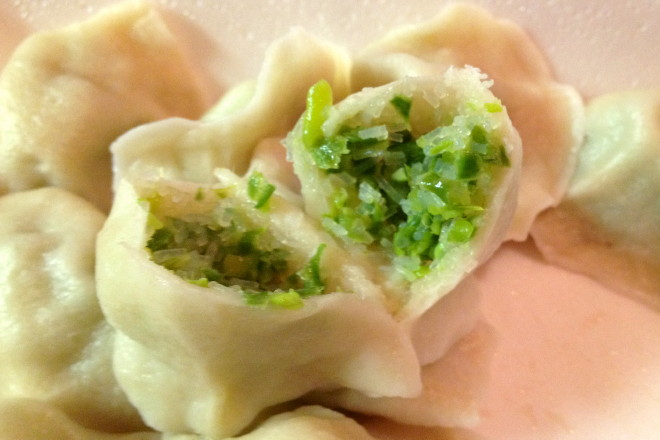 photo of string bean dumplings from Qingdao Garden, Cambridge, MA