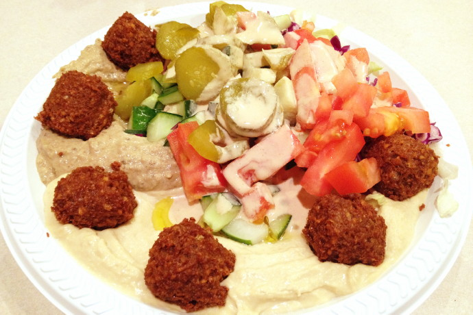 photo of a baba plate from Rami's, Brookline, MA