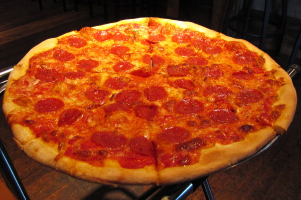 photo of pepperoni pizza from Ramunto's Brick and Brew Pizza, Bridgewater, VT