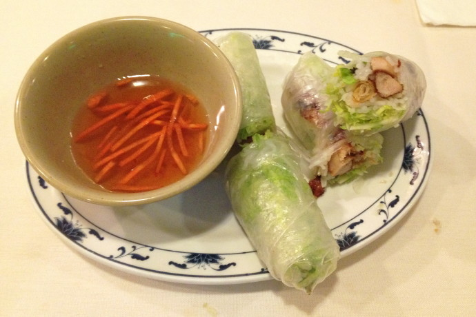 photo of spring rolls from Saigon Restaurant, East Boston, MA (from hiddenboston.com)