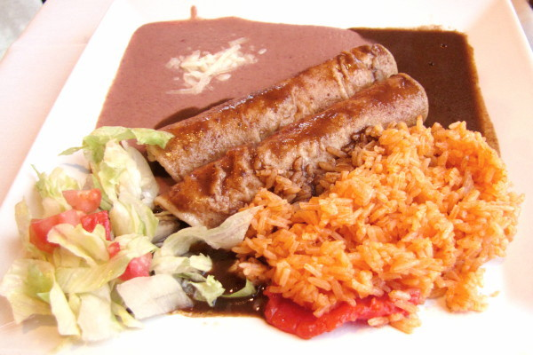 photo of chicken mole enchiladas from Sea Breeze Mexican Grill, Dorchester, MA