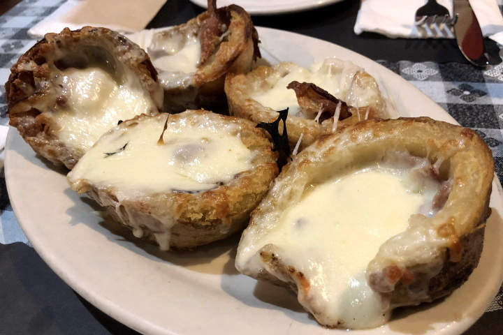 photo of potato skins from Seapoint Bar and Grill in South Boston, MA