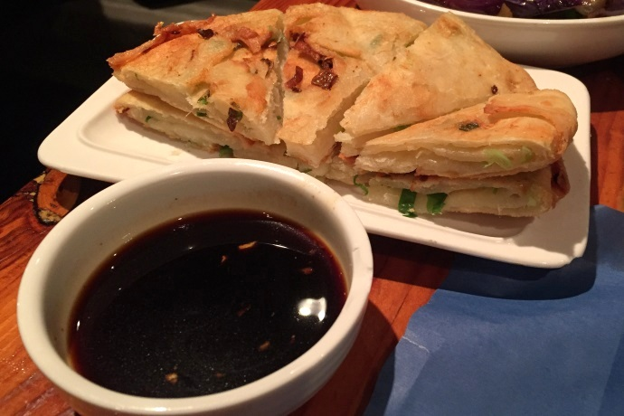 photo of scallion pancakes from Shanghai Gate, Allston, MA