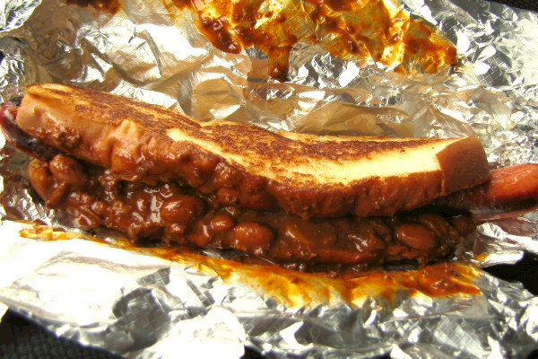photo of chili dog from Simco's, Mattapan, MA