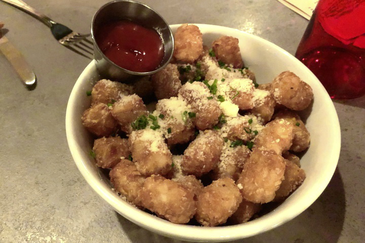 photo of tots with parmesan cheese from Snappy Pattys, West Medford, MA