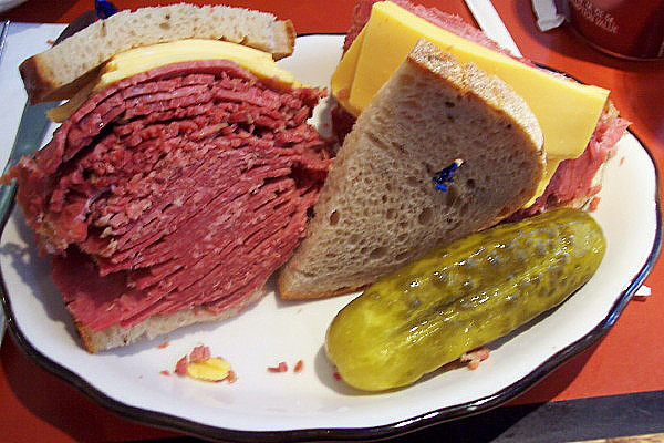 photo of corned beef sandwich from Stage Deli [CLOSED], Manhattan, NY