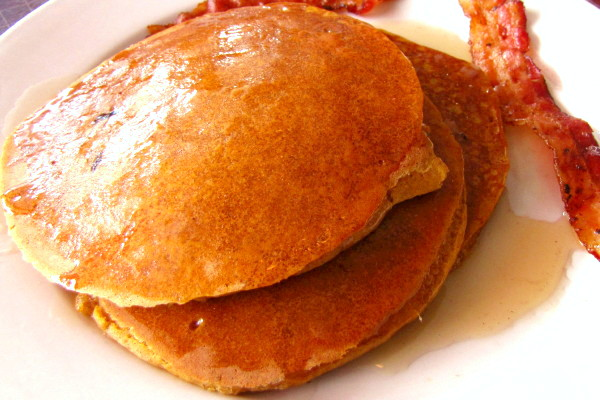 photo of pumpkin pancakes from Stars, Hingham, MA