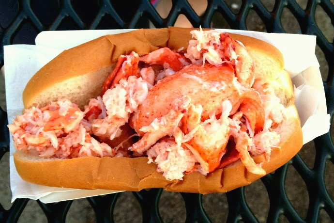 photo of lobster roll from Sullivan's, South Boston, MA