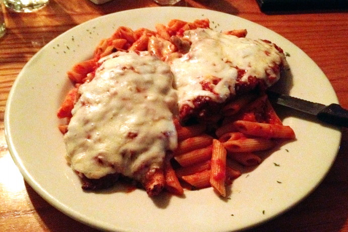 photo of chicken parmigiana from the Swanton Street Diner, Winchester, MA
