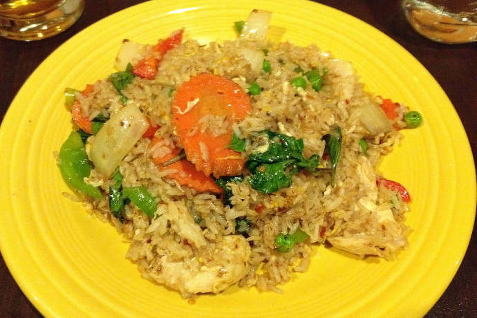 photo of basil fried rice from Sweet Ginger, Somerville, MA