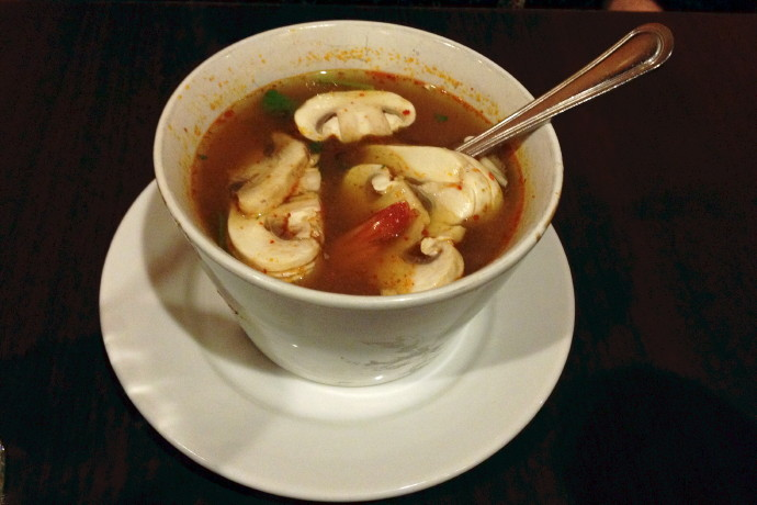 photo of tom yum soup from Sweet Ginger, Somerville, MA